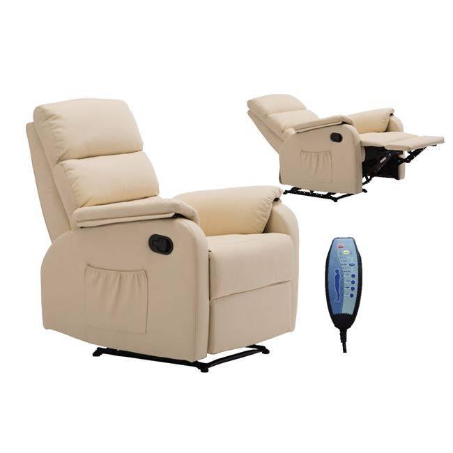 Massage Πολυθρόνα Relax Pu Μπεζ