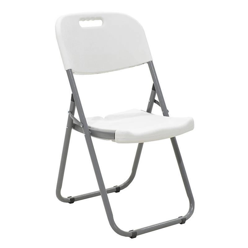 Καρέκλα catering-συνεδρίου πτυσσόμενη EDISON χρώμα λευκού γρανίτη