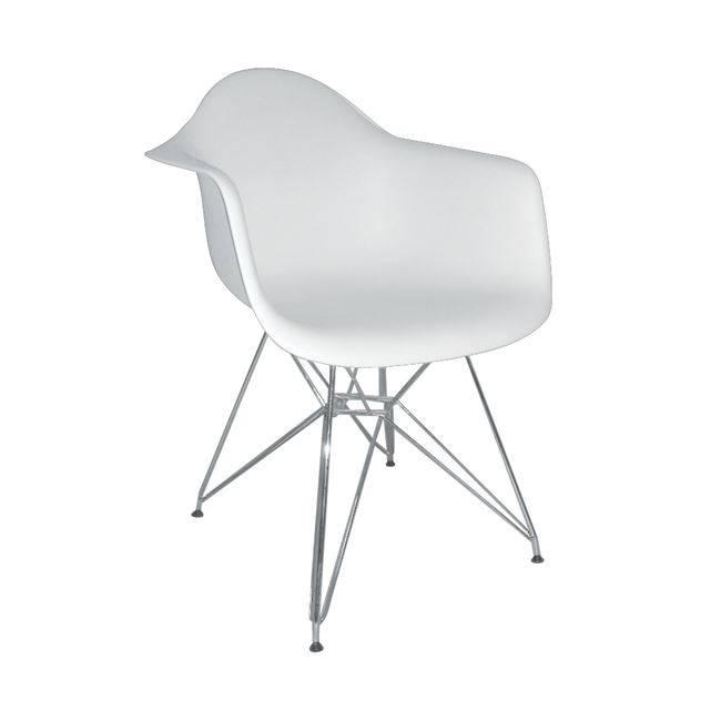 ALEA Πολυθρόνα PP Λευκό ΕΜ125,11