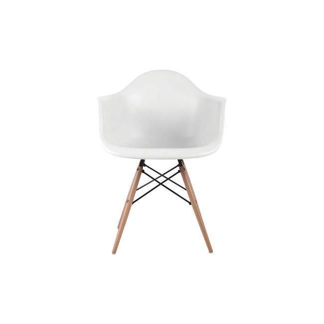 ALEA Wood Πολυθρόνα PP Λευκό ΕΜ129,1