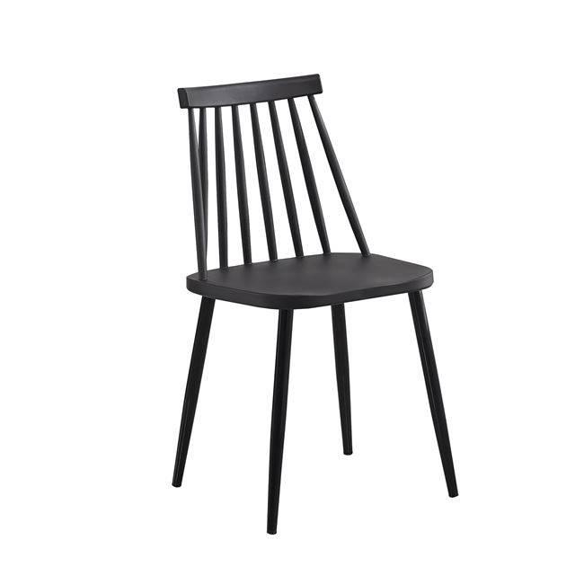 LAVIDA Καρέκλα Μέταλλο & PP Μαύρο ΕΜ139,22W