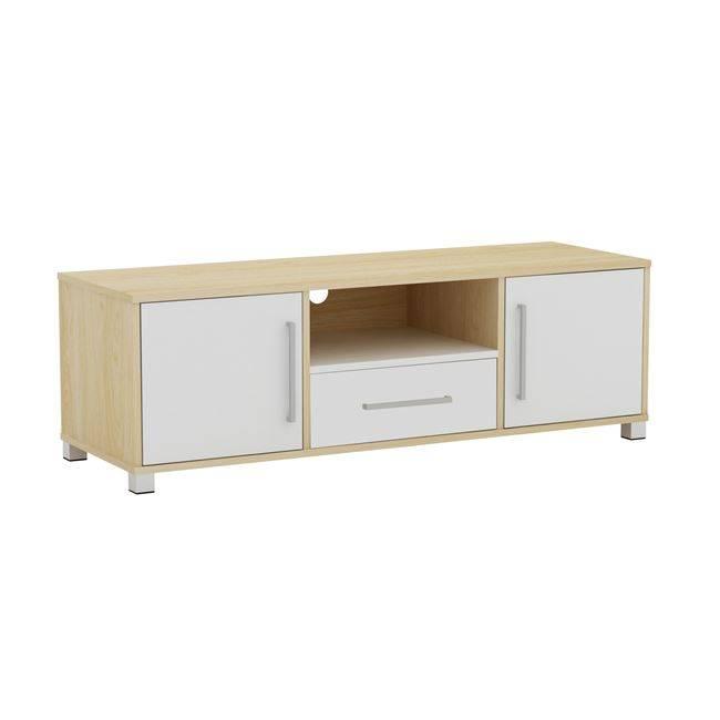 DECON Έπιπλο TV 120x40x39cm απόχρ.Σημύδας/Άσπρο ΕΜ346,7