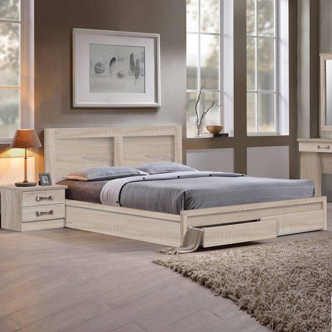 LIFE Κρεβάτι-Συρτάρια 160x200 Sonoma ΕΜ363,2