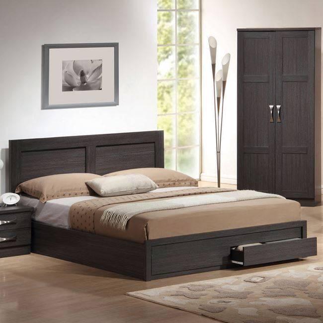 LIFE Κρεβάτι-Συρτάρια 160x200 Zebrano ΕΜ363