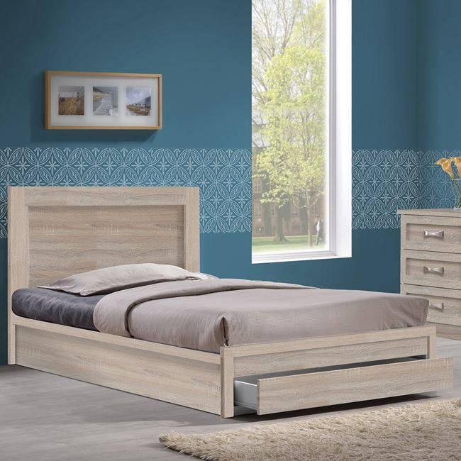 LIFE Κρεβάτι-Συρτάρι 100x200 Sonoma ΕΜ3631,2
