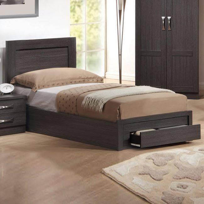 LIFE Κρεβάτι-Συρτάρι 90x200 Zebrano ΕΜ3633