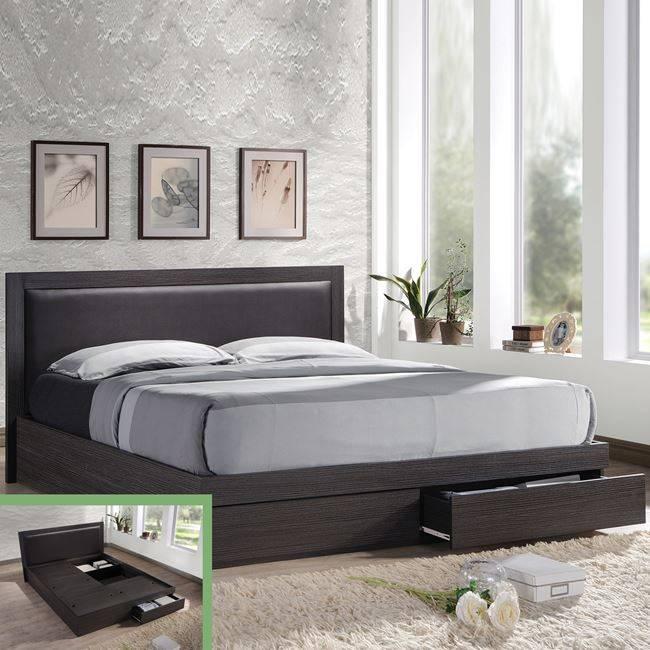 LIFE Κρεβάτι-Συρτάρια 160x200/Κεφ.PVC/Zebrano ΕΜ371