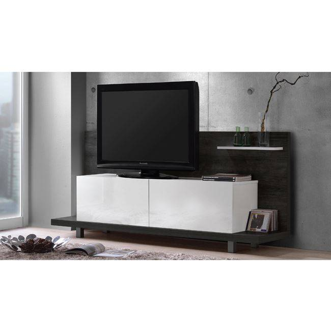 LIFE PANEL TV 160x40x72 απόχρωση Μαύρο Δρυς/ Άσπρο ΕΜ379