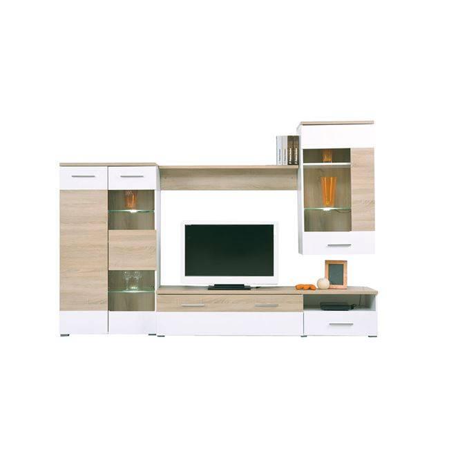 LIFE Σύνθεση Τοίχου 210x40x120 Sonoma/Λευκό ΕΜ387