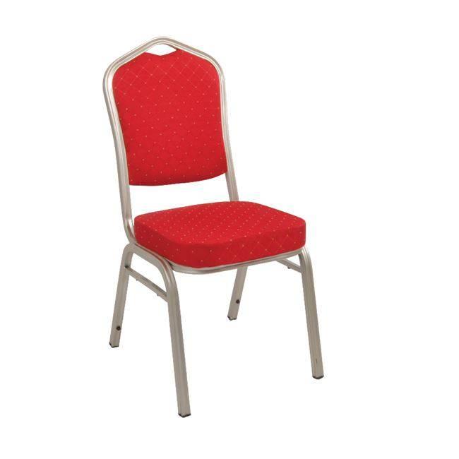 HILTON Καρέκλα Μεταλλική Light Gold/Ύφασμα Κόκκινο ΕΜ513,5