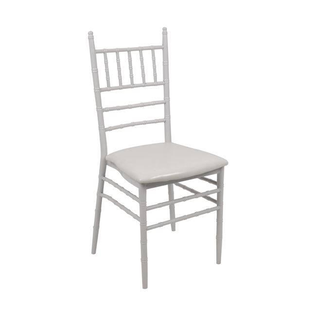 ILONA Καρέκλα Μεταλ.Λευκή, ταπετσαρία Λευκό PVC ΕΜ516,2