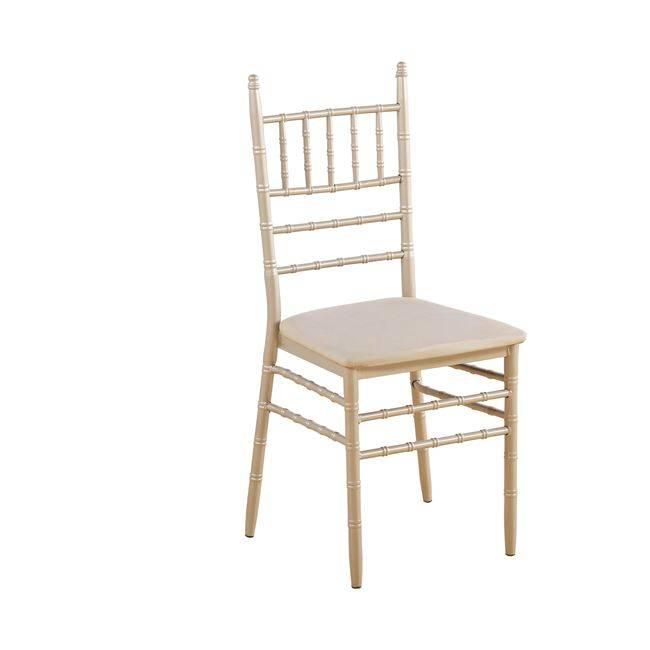 ILONA Καρέκλα Μεταλ.Champagne/Pu Μπεζ ΕΜ516,5