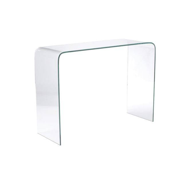 GLASSER Clear Κονσόλα γυαλί 12mm 110x35x75cm ΕΜ723