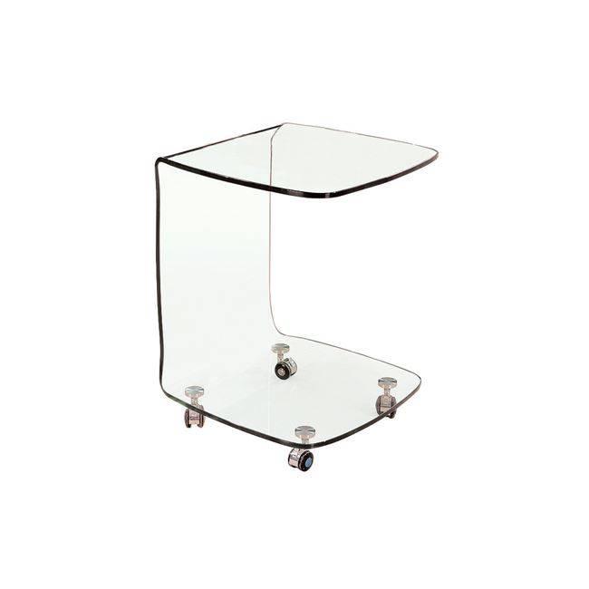 GLASSER Clear Trolley γυαλί 10mm 45x45x60cm ΕΜ726