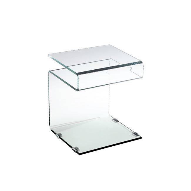 GLASSER Clear Βοηθ.Τραπεζάκι γυαλί 12 mm 42x38x48cm ΕΜ735