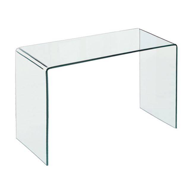 GLASSER Clear Γραφείο/Τραπέζι 120x60x75cm Γυαλί 12mm ΕΜ736
