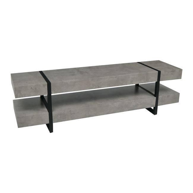 TABLOT Έπιπλο TV 160x40x45cm Γκρι-Cement/Βαφή Μαύρη ΕΜ757,1