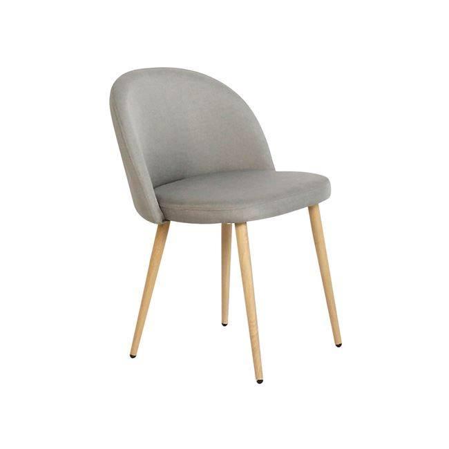 BELLA Καρέκλα Μεταλλική Βαφή Φυσικό/Ύφασμα Sand-Grey ΕΜ762,1