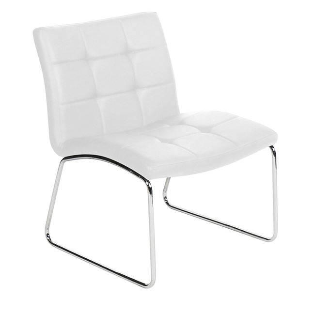 LIBRA Καρέκλα Χρώμιο/Pu Άσπρο ΕΜ765,2