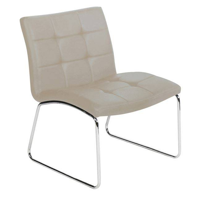 LIBRA Καρέκλα Χρώμιο/Pu Cappuccino ΕΜ765,3