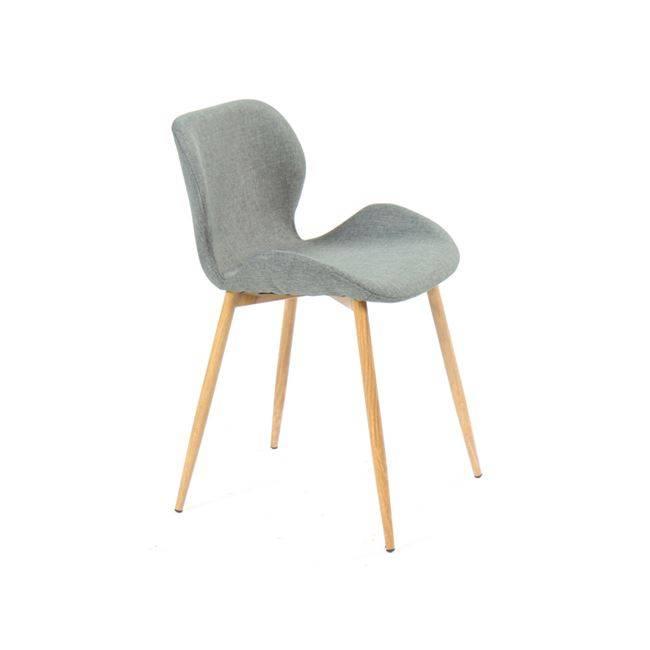 LILIAN Καρέκλα Μεταλλική Βαφή Φυσικό/Ύφασμα Αν.Γκρι ΕΜ766,1
