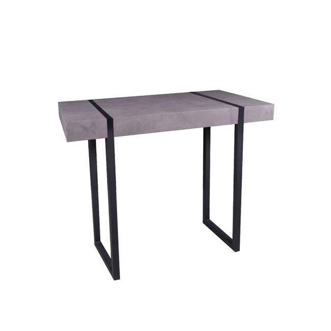 TABLOT Κονσόλα 100x35x80 Γκρι-Cement/Βαφή Μαύρη ΕΜ819,1