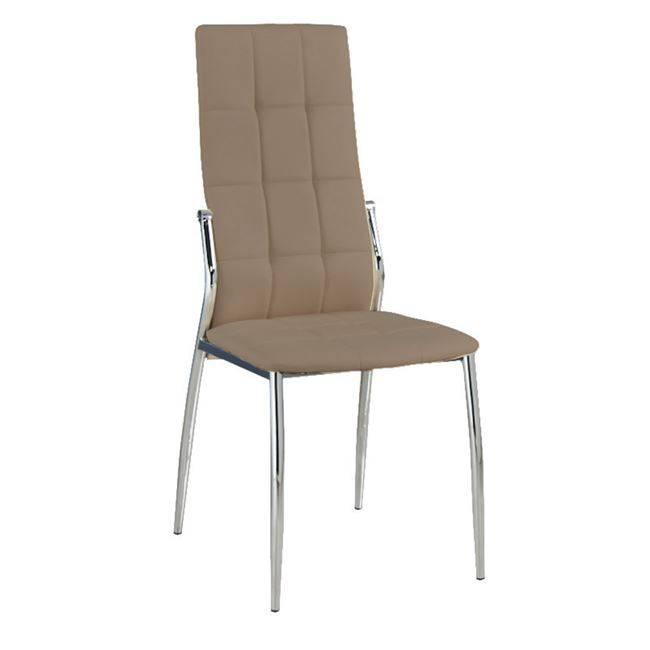 PRIMA Καρέκλα K/D Χρώμιο/Pvc Cappuccino ΕΜ900,3