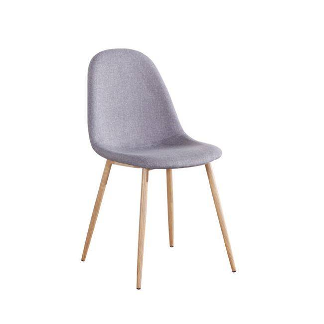 CELINA Καρέκλα Μεταλλική Φυσικό, Ύφ.Γκρι ΕΜ907,1