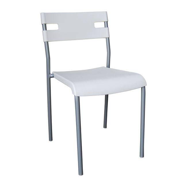 SWIFT Καρέκλα PP Λευκό (Βαφή Silver) ΕΜ912,1