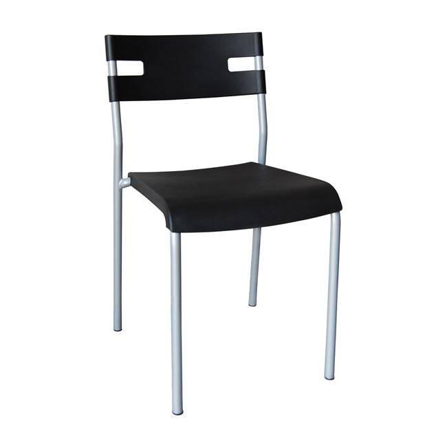 SWIFT Καρέκλα PP Μαύρο (Βαφή Silver) ΕΜ912,2