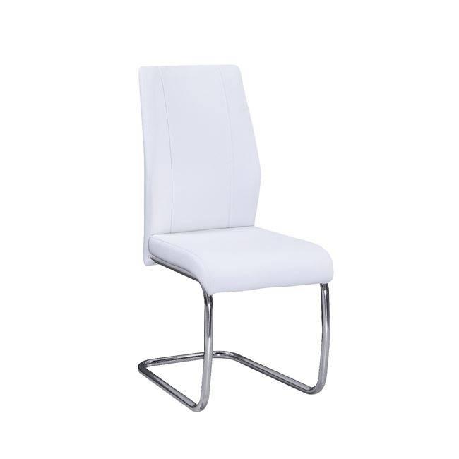 TULIP Καρέκλα Χρώμιο/PU Άσπρο ΕΜ913,2