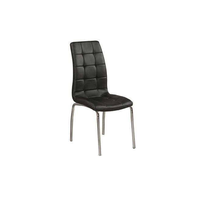 MELVA Καρέκλα Χρώμιο/Pu Μαύρο ΕΜ942,1