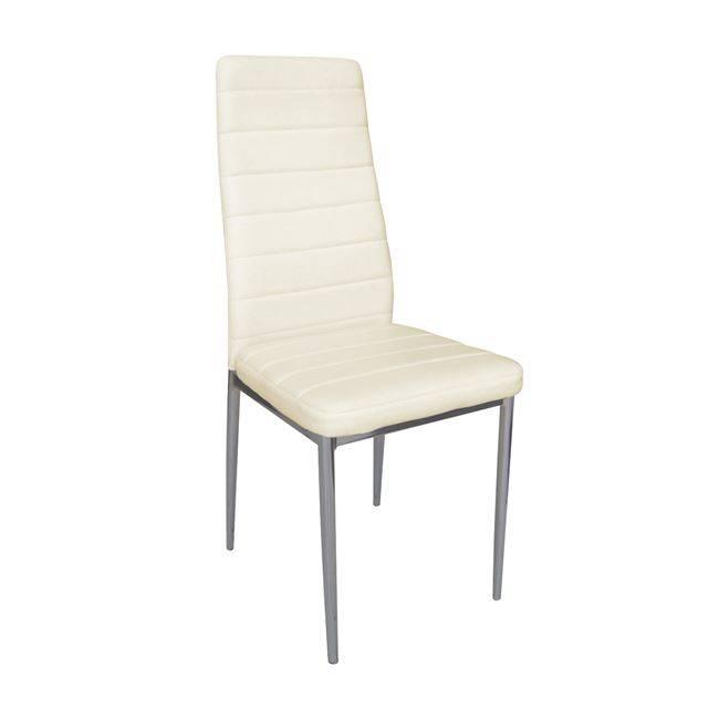 JETTA Καρέκλα PVC Εκρού/Βαφή Γκρι (Συσκ.6) ΕΜ966,16