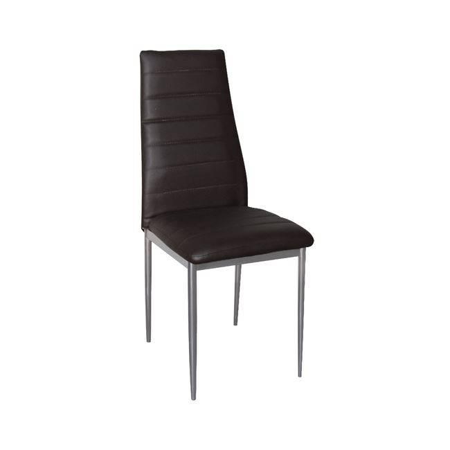 JETTA Καρέκλα PVC Σκ.Καφέ/Βαφή Γκρι (Συσκ.6) ΕΜ966,56