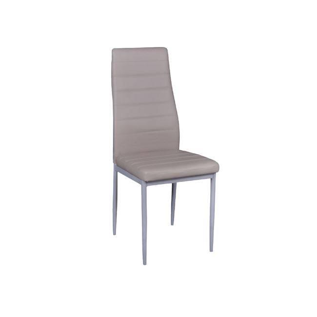 JETTA Καρέκλα PVC Cappuccino/Βαφή Γκρι (Συσκ.6) ΕΜ966,96