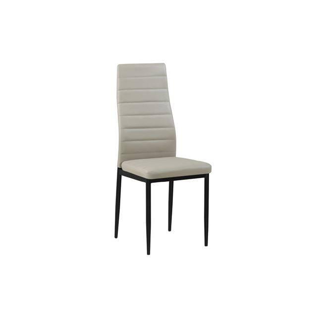 JETTA Καρέκλα PVC Cappuccino/Βαφή Μαύρη (Συσκ.6) ΕΜ966Β,96