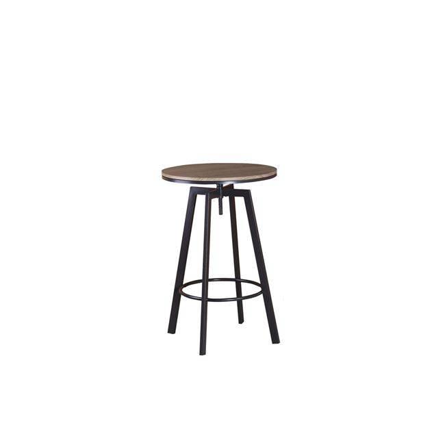YORK Τραπέζι BAR Φ60cm Μεταλ.Σκ.Καφέ/Καρυδί ΕΜ9793,1Τ