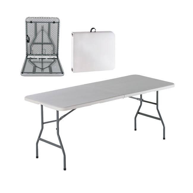 BLOW Συνεδρίου (Βαλίτσα) Τραπ.180x74cm Πτυσ/νο Λευκό ΕΟ179
