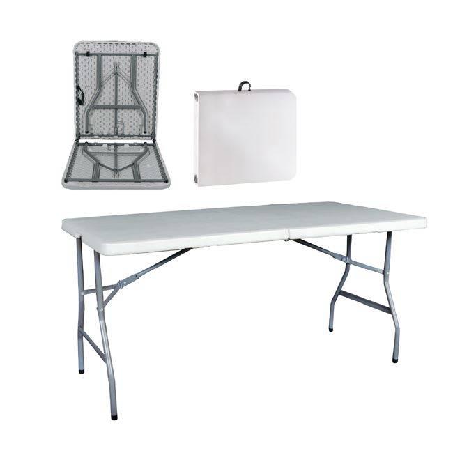 BLOW Συνεδρίου (Βαλίτσα) Τραπ.152x70cm Πτυσ/νο Λευκό ΕΟ181