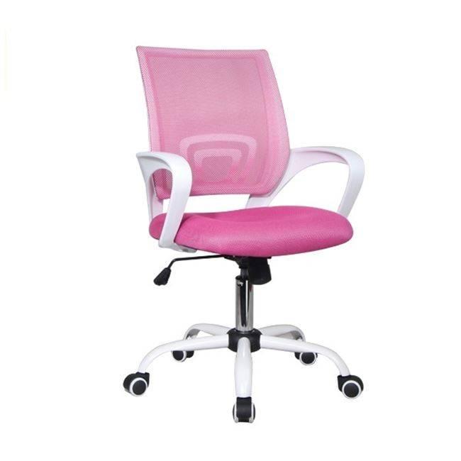 BF2101-S Πολυθρόνα Άσπρη/Ροζ Mesh ΕΟ254,7S