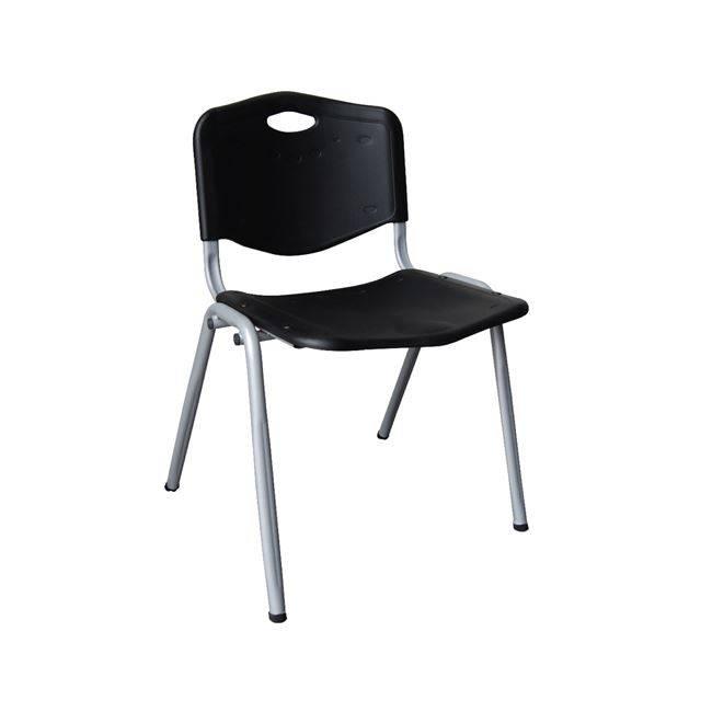 STUDY Καρέκλα Μαύρη (Βαφή Silver) ΕΟ549,1