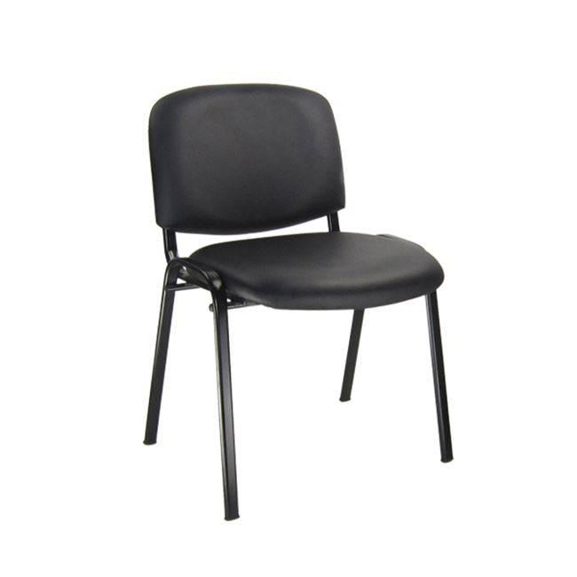 SIGMA στοιβ/νη Καρέκλα Μαύρη/PVC Μαύρο ΕΟ550,17