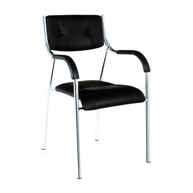 ALPHA Πολυθρόνα Pu Μαύρο ΕΟ552