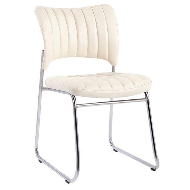 VENUS Καρέκλα Χρώμιο/Pu Εκρού ΕΟ554,2W