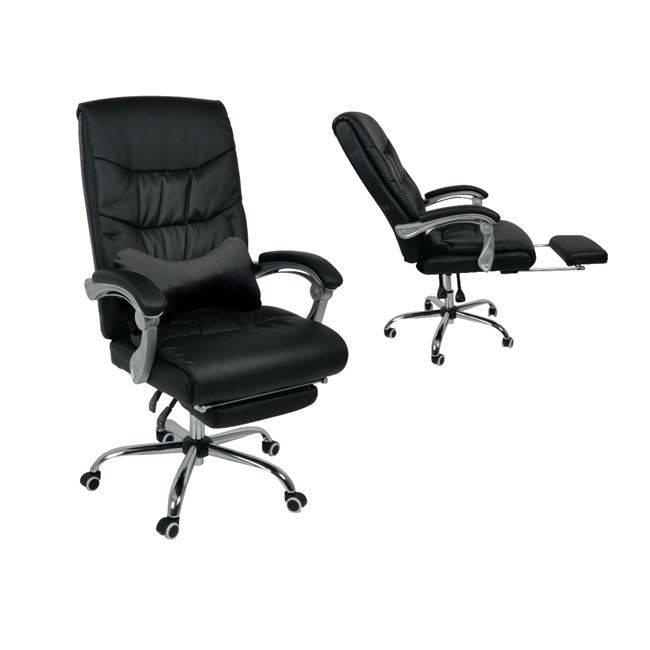 BF9650 Πολυθρόνα Διευθ.Relax Pu Μαύρο ΕΟ579,1