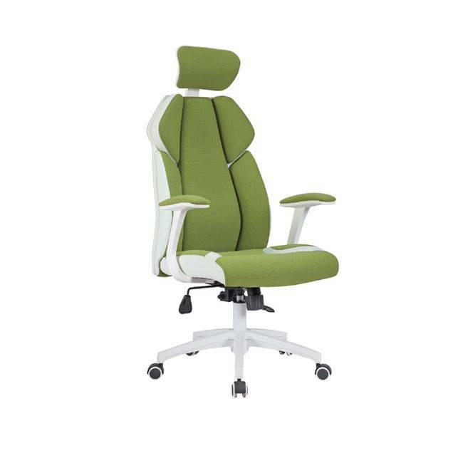 BF8300 Πολυθρόνα Διευθ.Πράσινο Microfiber/Λευκό Pu ΕΟ587,1