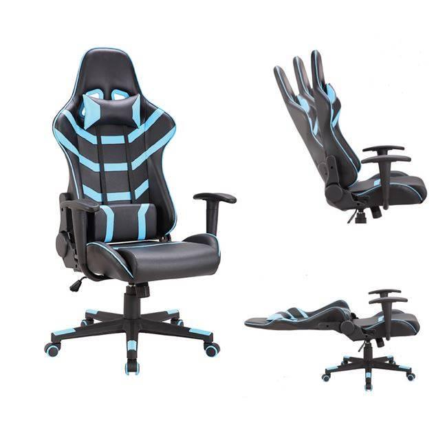 BF9050 Gaming Πολυθρόνα Διευθυντή Pvc Μαύρο/Μπλε ΕΟ588,2