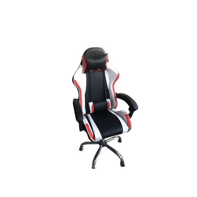 BF6250 Bucket Πολυθρόνα Διευθ.Relax PVC Μαύρο/Άσπρο/Κόκκινο ΕΟ596,1