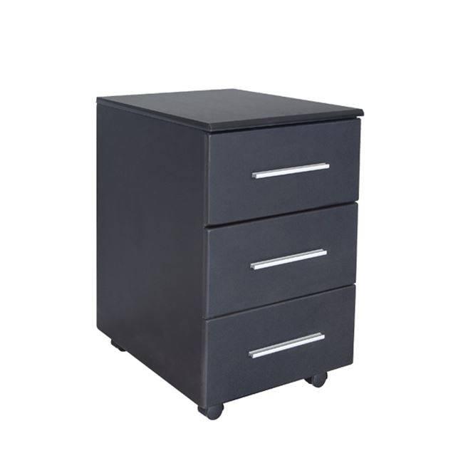 Συρταριέρα (3Σ) 40x54x63 Μαύρη Melamine ΕΟ614,2
