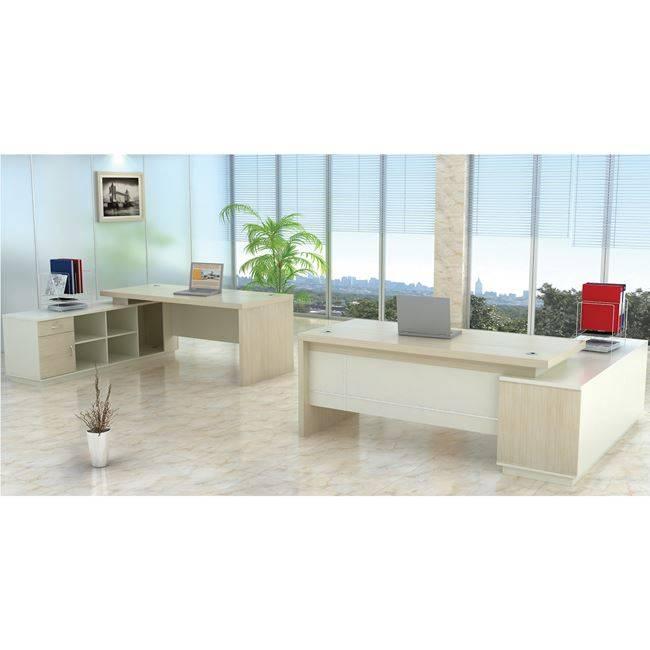 PLANET Γραφείο -Αρ.Γωνία- 180x180cm Απ.Σημύδας/Λευκό ΕΟ920,L